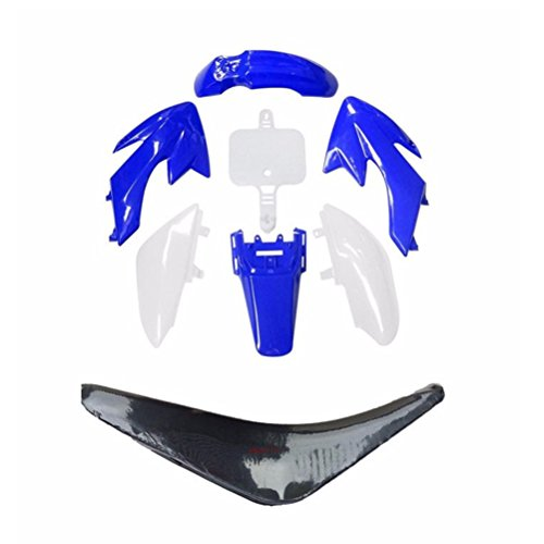 ZXTDR Plastic Body Fender Fairing Kit and Seat For Honda CRF50 XR50 90cc 110cc 125cc Dirt Pit Bike (Blue) (Fairing Body Plastic)