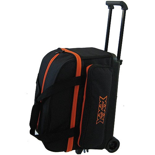 Double Frame Bag (Tenth Frame Classic Double Roller Bowling Ball Bag (Orange))