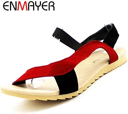 JingZhou ENMAYE Fashion Flats Heel Women Sandals Shallow Sandal Ladies Mix Colors WholeLow Price Causal Shoes