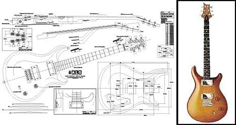Plan de PRS McCarty guitarra eléctrica – escala completa impresión ...