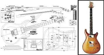 Plan de PRS McCarty guitarra eléctrica - escala completa impresión