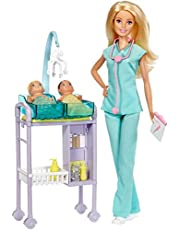 Barbie Career Baby Doctor Doll and Playset for Girls - DHB63 DVG10