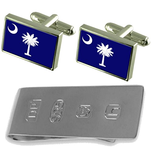 Carolina Flag Bond South amp; South Money Clip Carolina Flag Cufflinks Cufflinks amp; James x4XO4