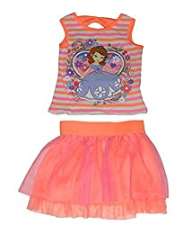 Disney Sofia the First Girls 2 Piece Scooter Shorts Set 18 Months