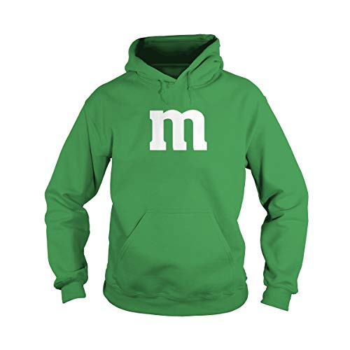 Unisex Letter M Halloween Costume Hoodie (S, Green) ()