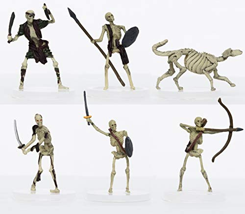 (Characters of Adventure - Skeletons Party of 6 - Plastic Miniature for D&D or Pathfinder)