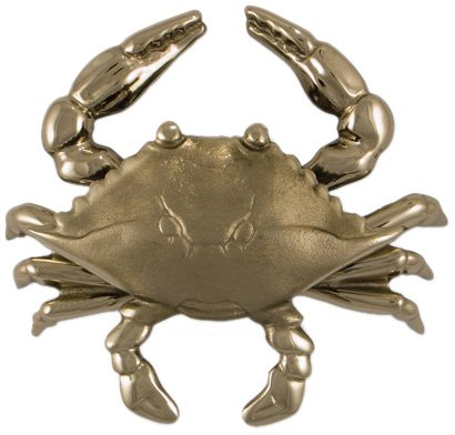 Brass Chrome Door Knockers Over (Blue Crab Door Knocker - Nickel Silver (Premium Size))