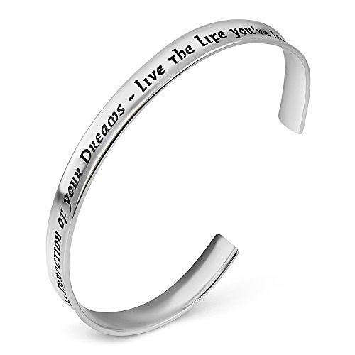 925-Sterling-Silver-Go-Confidently-in-The-Direction-OF-your-Dreams-Inspiration-Cuff-Bracelet-7