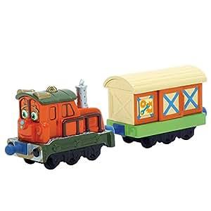 Chuggington Die Cast LC54005 - Kelly con vagones de carga, locomotoras fundido rico en detalles, colores y resistente