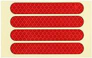 Wheel Reflective Sticker, 83x13mm / 3.27x0.51in Reflective Sticker 4PCS/Set Front Rear Wheel Reflective Sticke