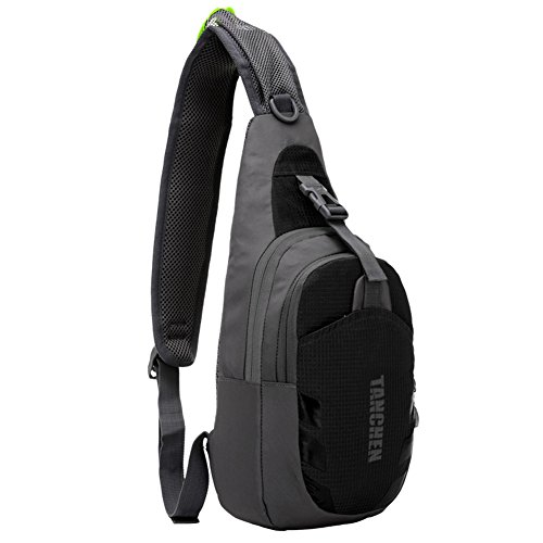 Tanchen Sling Bag Waterproof Sport Chest Pouch Gym Fanny Backpack Shoulder Crossbody Single Shoulder Bag - Instructions Mp3 Sunglasses