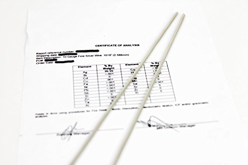 99.99% Silver Rods Colloidal Silver 10 gauge AWG Certified 9999 Pure, Pair of Rods 8 inches