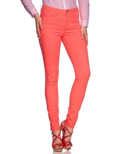 VERO mODA pantalon 10093296 wONDER nW nEON jEGGING skinny taille normale -  Rouge - 30/L32 (FR 40)