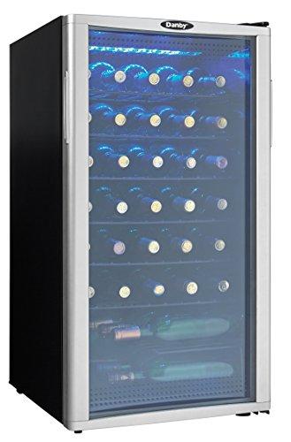Danby Wine Cooler, 35 Bottle, Black, Platinum
