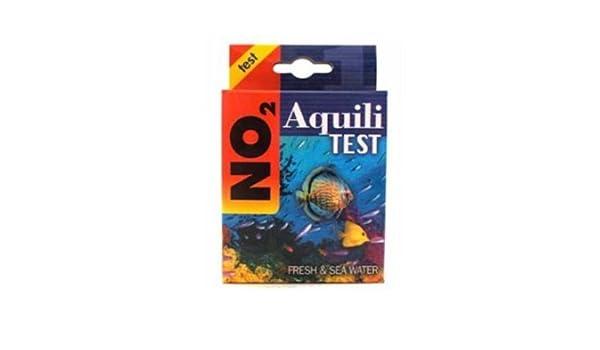 aquili Test No2 - Kit para la medición de los nitriti de acuario dulce o marino y estanques, con Reactivo: Amazon.es: Productos para mascotas