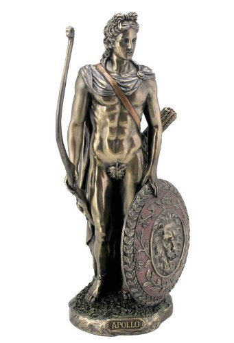 Sale - Apollo with Bow & Shield Sculpture by JFSM INC