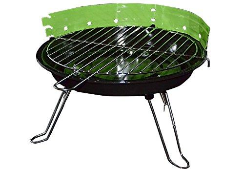Rundgrill Mini BBQ Grill Partygrill Tischgrill Campinggrill grün