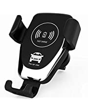 Car Wireless Charger Qi Fast Wireless Charging ًWith automatic Car Phone Holder