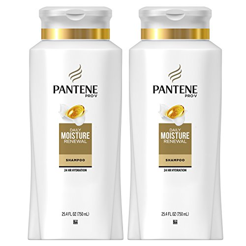 Moisturizing Shampoo Hydrating Formula - Pantene Moisturizing Shampoo for Dry Hair, Daily Moisture Renewal, 25.4 Fl Oz (Pack of 2) (Packaging May Vary)