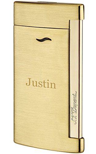 Personalized S.T. Dupont Slim 7 Shiny Chrome Lighter with Free Engraving by S.T. Dupont (Image #5)