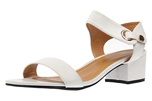 ANDRES MACHADO - Damen Sandaletten - Weiß Schuhe in Übergrößen