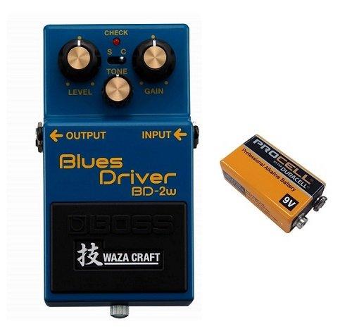 【9V電池DURACELL PROCELL 006P付】BOSS ボス BD-2W(J) Blues Driver WAZA CRAFT コンパクトエフェクター ブルースドライバー B01M6A33PA