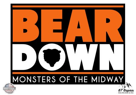 (GT Graphics Bear Down Bears Fan - 3