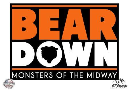 GT Graphics Bear Down Bears Fan - 3