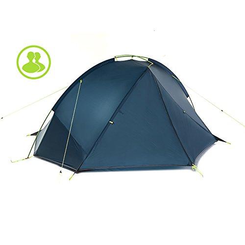 敬意を表してが欲しい状態QFFL zhangpeng テントシングルポールダブルテント野外野キャンプテント耐圧テント2色オプション トンネルテント ( 色 : B , サイズ さいず : Double tent )