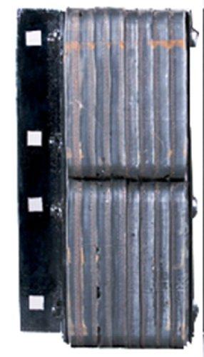 Durable-Corporation-Standard-Rubber-Dock-Bumper-Rectangular-Laminated-Vertical-Mount-Flat-Plate-One-Side-4-Holes-10-12-Length-20-Width-4-12-Depth-11-Center-to-Center-Hole