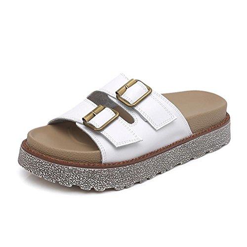 Sole Shoe Pengweisandali Flat Pantofole 1 Ladies Size Roman 7wqSaOpT