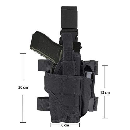 DecoDeco Etui à Pistolet Holster De Cuisse Jambe Droite pour Armée Tactique Réglable Airsoft Molle Glock 1911 4