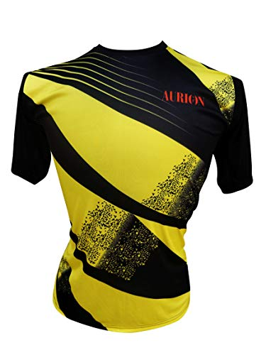 Aurion 600S Synthetic Sublimation A600S Sportswear T-Shirt, X-Large (Yellow/Black) (B07G4D5XFR) Amazon Price History, Amazon Price Tracker