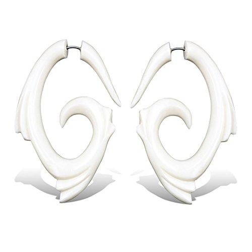 Horn Plugs Gauge Bone Earring - 8