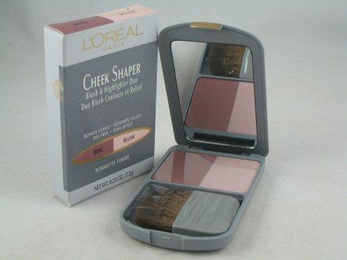 L'oreal Cheek Shaper Blush and Highlighter Duo ( Rose / Blush ). (Shaper Blush)