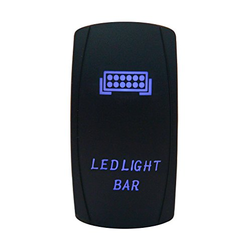 - Cllena Car Toggle Switch Laser Blue LED Rocker Switch 5 PINS for Car Motor Boat(LED Light Bar)