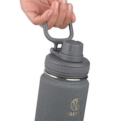 Takeya Actives Insulated Stainless Steel Water Bottle with Spout Lid, 24 oz, Stone
