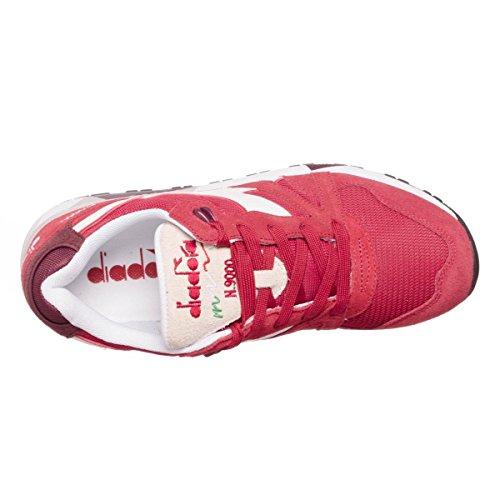 Diadora N9000 Iii, Zapatilla de Deporte Baja del Cuello Unisex Adulto, Azul Rojo