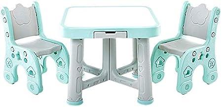 Juego de mesa y silla para niños Mesa de plástico, adecuada para ...