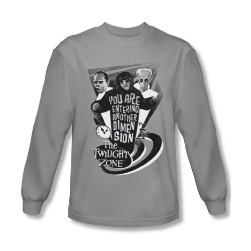 Twilight Zone - Herren Another Dimension Langarm-Shirt in Silber, Small, Silver