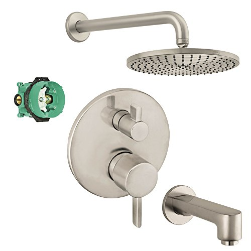 hansgrohe-kst04231-27474-13bn-2-raindance-downpour-air-10-in-showerhead-kit-with-tub-spout-thermosta