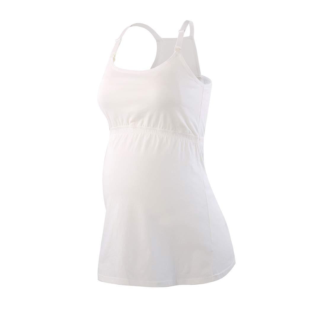 Rennfahrer Zur/ück Schwangeres Stillshirt aus Baumwolle ZUMIY Still-Top Umstandsmode T-Shirt Damen Still Umstands-Top mit Doppelter /Öffnung