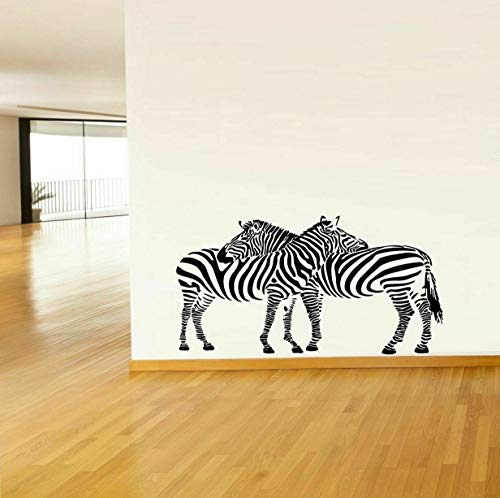 (Tomikko Wall Art Vinyl Sticker Decal Mural Decor Wild Animal Zebras Couple Stripe #1009 | Model DCR - 379)