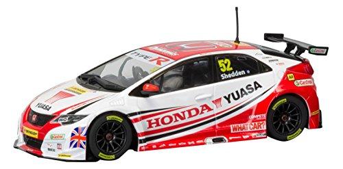 Scalextric BTCC Honda Civic Type R 2015 Honday Yuasa Racing Team #52 Gordon Shedden Slot Car (1: 32 Scale) (Racing Scalextric Cars)