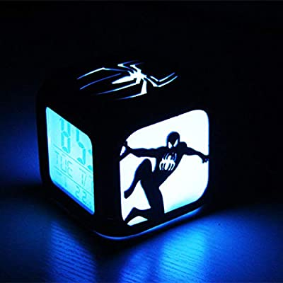 R/éveil Super Cr/éatif Spider-Man R/éveil /Électronique St/ér/éo /À DEL 3D Night Light ,A:Batteryboxversion Sept Couleurs R/éveil De Recharge USB Pour Cadeau Danniversaire