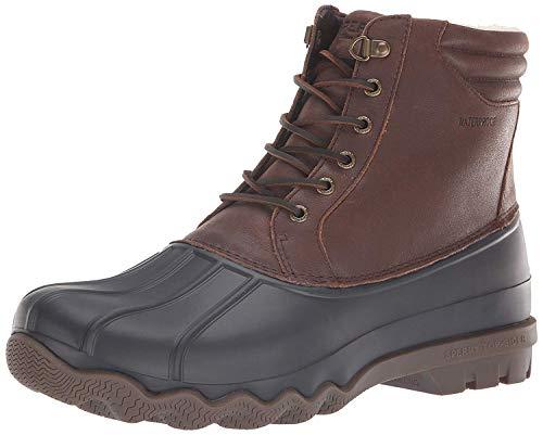 SPERRY Men's Avenue Duck Winter Snow Boot, Brown/Black, 10 M US