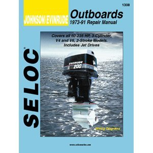 Johnson Evinrude Outboard Repair Manual, 3 cylinder, V4, ...