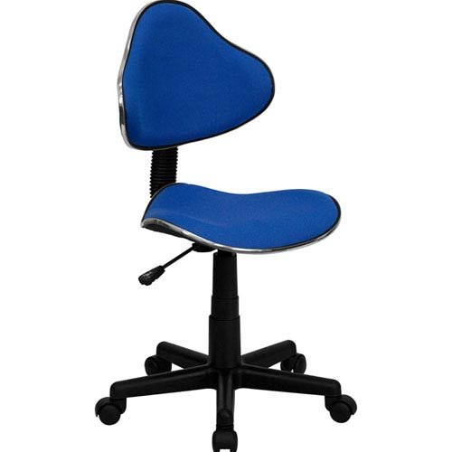Parkside Blue Fabric Ergonomic Swivel Task Chair