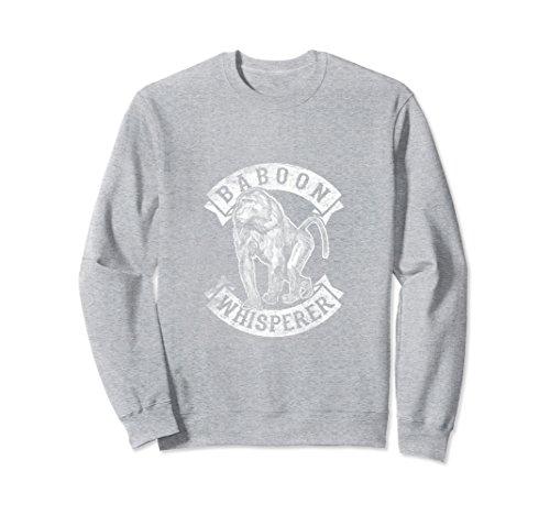 Unisex African Baboon Whisperer Funny Sweatshirt Crewneck Monkey 2XL Heather Grey