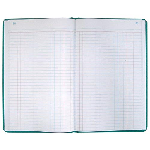 (Boorum & Pease 66 Series Account Book, Journal Ruled, Green, 300 Pages, 12-1/8